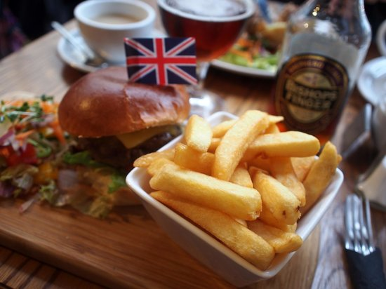 Number 12 Tearoom and Restaurant: burger lunch