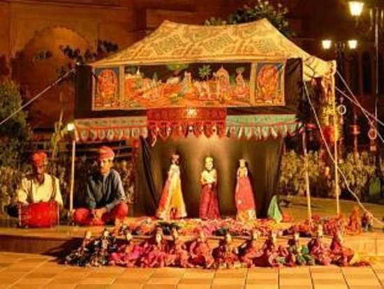 The Grand Imperial, Agra: Puppet Show in hotel