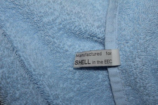 Ledgowan Lodge Hotel: Towels in the room manufactured for Shell??