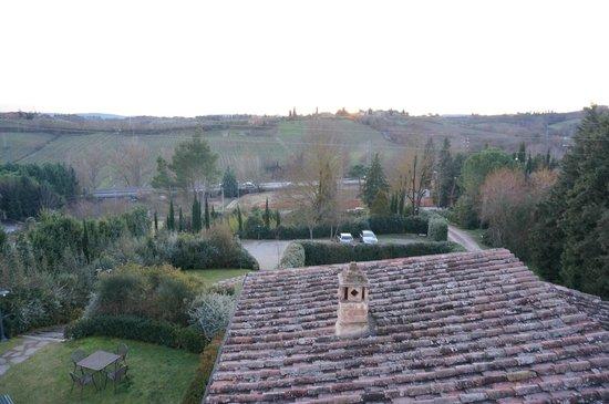 Villa il Borghetto: view from the terrance of our appartment