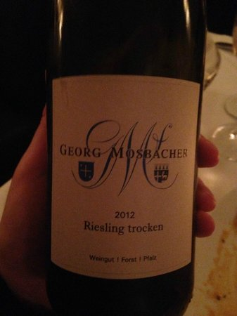 Cafe Glockenspiel: This risling was greate with fish