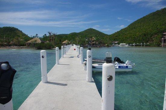 Coral Bay Beach & Dive Resort : Long pier