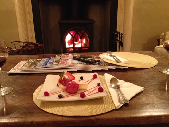 The Eltermere Inn: Lemon tart in the Sitting Room