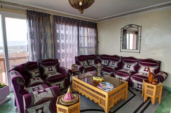 Villa Taghazout Bay - La Clé des Agadirs : Salon vue mer