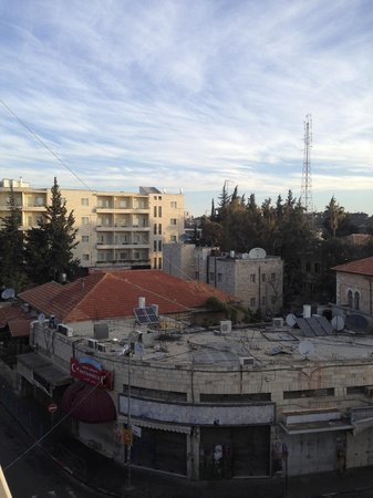 National Hotel Jerusalem : dalla terrazza