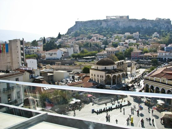 A for Athens Breakfast Lounge: View from the rooftop terrace