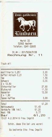 Zum goldenen Einhorn: addition