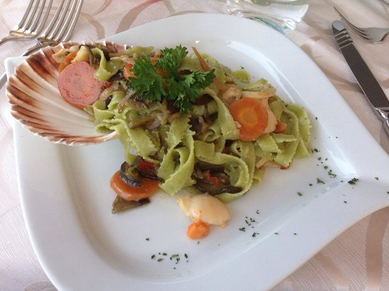Hotel Sole: Hand made pasta with scallops-simply the best pasta I have ever eaten!