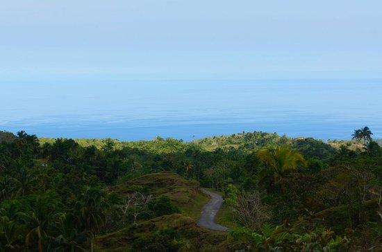 Siquijor Butterfly Sanctuary : vue sur la mer