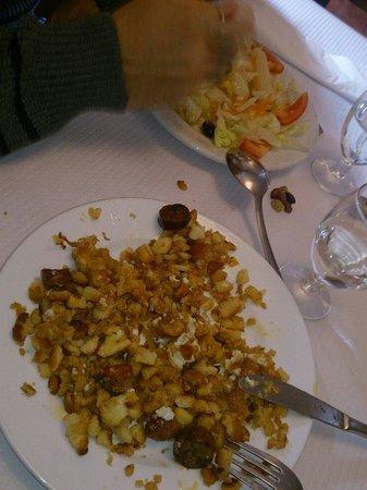Restaurante Olimpia: Todavía no me he recuperado de la mala gana que me provocaron estas migas...recalentadas y sabor