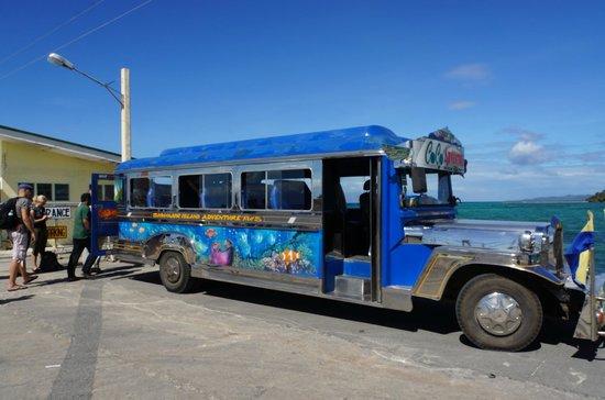 Coco Grove Beach Resort : le jeepney pour les transferts