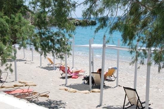 Balos Beach: taverne Esperos aan het eind.