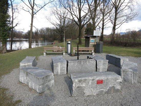 feuerstelle mit grill bild von naturschutzgebiet wichenstein oberriet tripadvisor. Black Bedroom Furniture Sets. Home Design Ideas