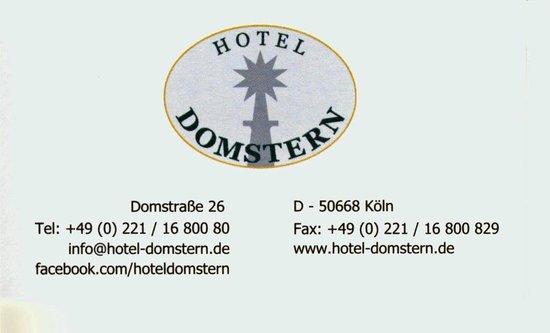 Hotel Domstern: carte