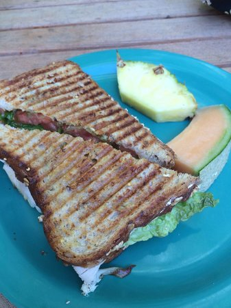 The Naples Beach Hotel & Golf Club: Made to order panini from little store off lobby