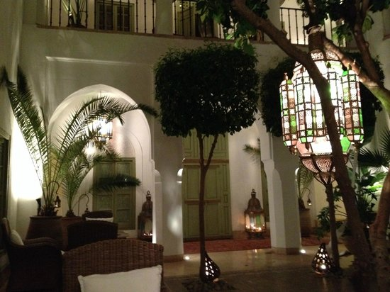 Riad Camilia, Maison d'hôtes : The cenral garden area
