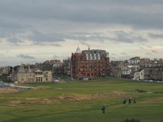 Old Course Hotel, Golf Resort & Spa: view from our suite 158 (telephoto lens!)