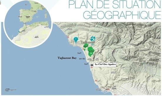 Villa Taghazout Bay - La Clé des Agadirs : Situation Plages et Golfs