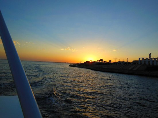 Iberotel Palace: Sunset from boat to Naama Bay