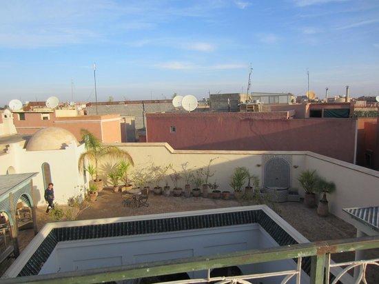 Riad Sahara Nour : uitzicht vanaf het dakterras