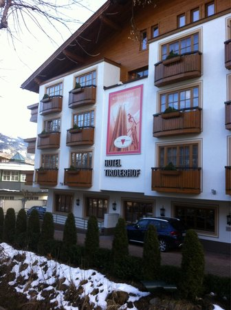 Hotel Tirolerhof: Outside view Feb 2014