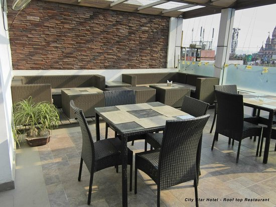 Hotel City Star: Rooftop restaurant