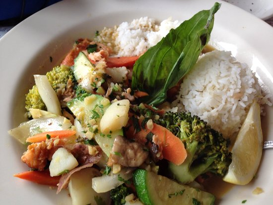 Pier Market : Special of the day Salmon with Vegetable Curry
