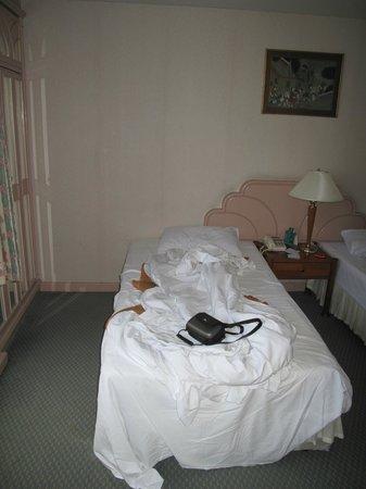 Baiyoke Suite Hotel: кровати