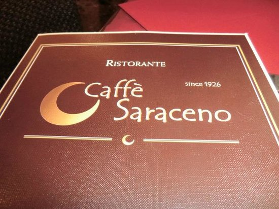 Caffe Saraceno : menu