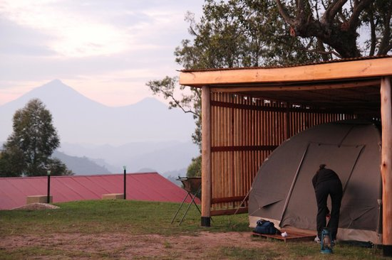Safari tents and wind shelter - Picture of Nkuringo Bwindi