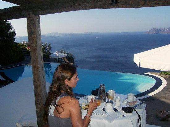 Vista Café da manhã/Hotel Perivolas/OIA/Santorini
