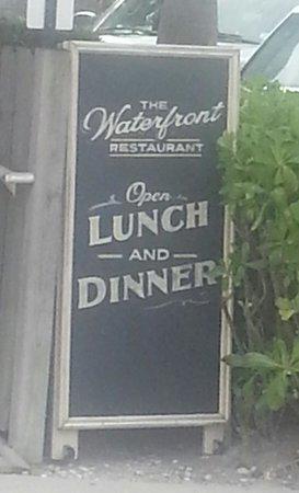Waterfront Restaurant: Waterfront signboard