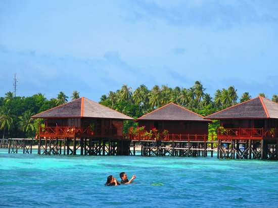 Sipadan Mabul Resort : Houses on water