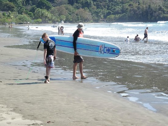 Jaco Beach: First Surging Lesson....   Safe and fun