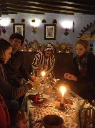 Dar Echchaouen : dinner at the hotel