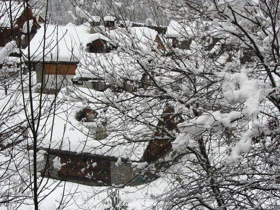 Hotel de la Telecabine: Panorama dalla mia camera