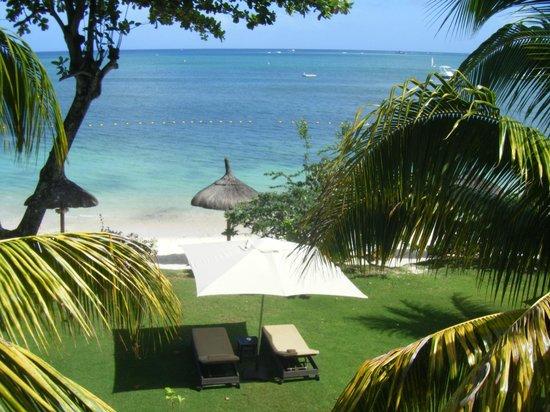 Le Cardinal Exclusive Resort: vue de notre terrasse
