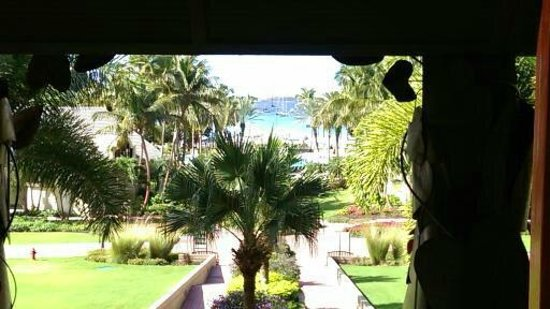 The Westin St. John Resort: View from our table at Breakfast