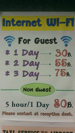New Siam Riverside Guest House: Internet - very bad((
