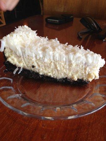 Buzz's Original Steak House: Coconut Cheesecake!