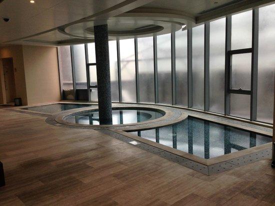 Ascott IFC Guangzhou: Jacuzzi Adjacent to Swimming Pool