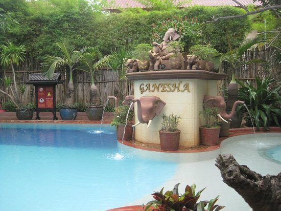HanumanAlaya Boutique Residence : The Ganesha Pool - the water was a bit cold in here.