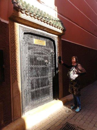 De voordeur van Riad Saba