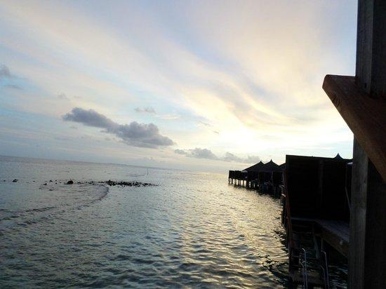 Kuramathi: View from villa at sunset