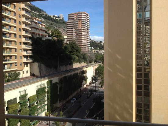 Le Meridien Beach Plaza: Side view from room 828, not noisy and a great vantage point during F1 races!