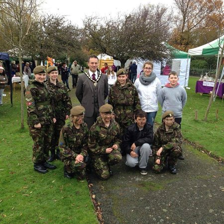 Botanical Gardens: Mayor with the Army Cadet Force at the Summer Event