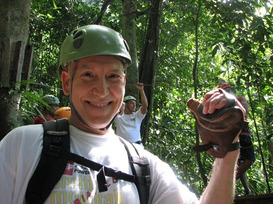 Osa Canopy Tour: Just repelled down from the tree in the background