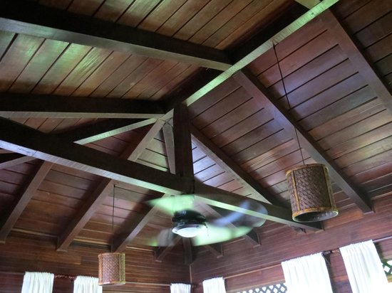 Tortuga Lodge & Gardens: Room ceiling.