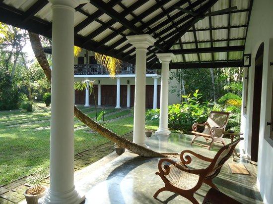 Nisala Arana : sitting on our terrace at high tea...