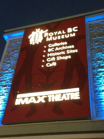 IMAX Victoria In the Royal BC Museum: Signage